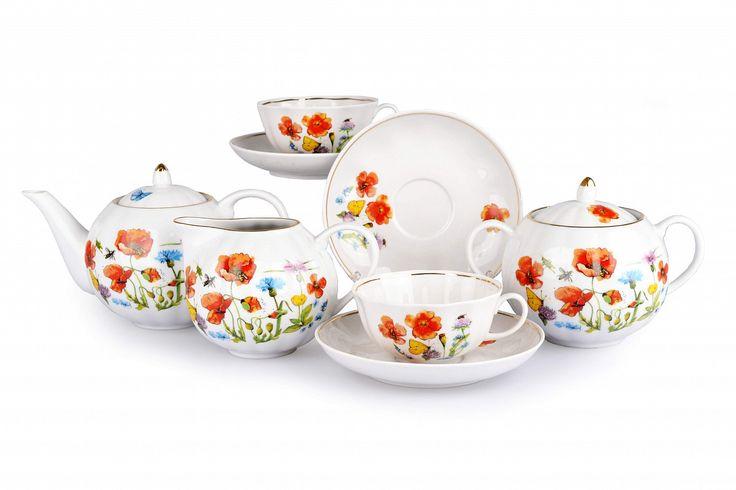 Сервиз чайный - Цветущий луг (Тюльпан, 15 предметов)