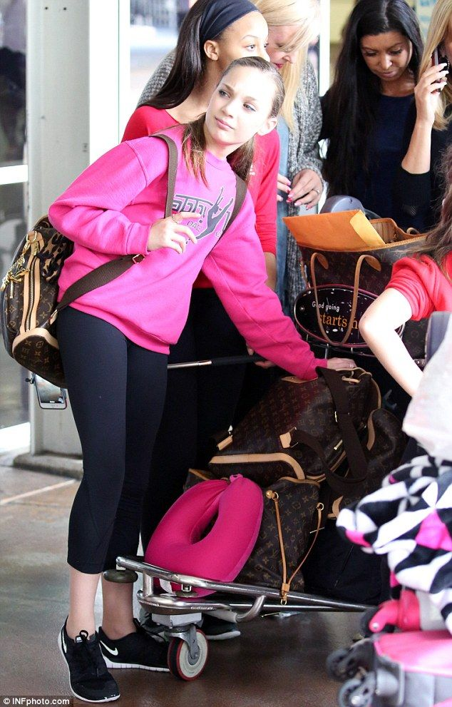 Travelling like an A-Lister! Maddie Ziegler, 12, arrived in Sydney with