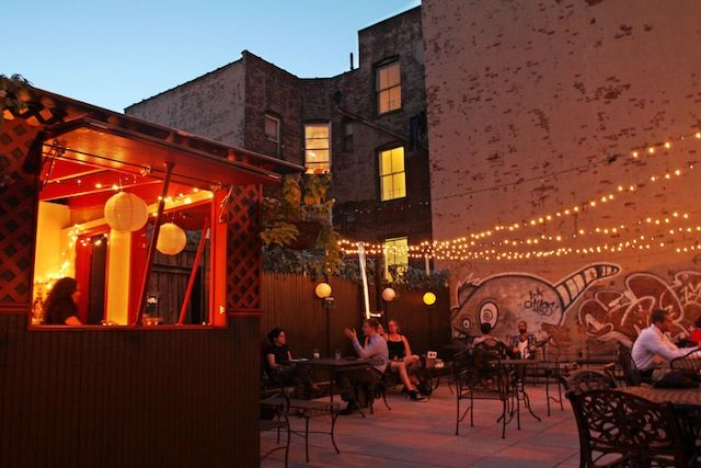 Best Rooftop Happy Hour-  Night of Jay in Williamsburg, Brooklyn. $6 cocktails and $4 beers