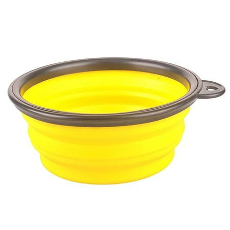 Collapsible foldable silicone dog bowls