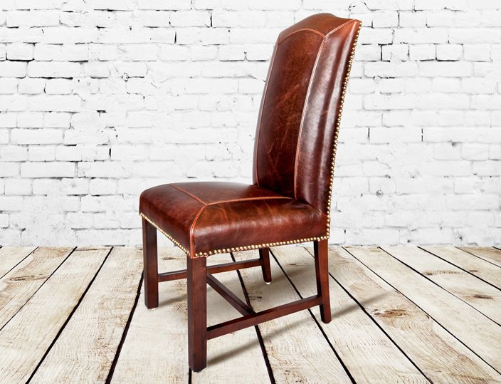 Beau Stitched Leather Detailing, Leather Side Chair  Http://www.TaramundiFurniture.comRustic