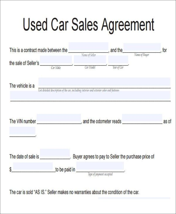 Image result for car sale contract with payments THE SILENT