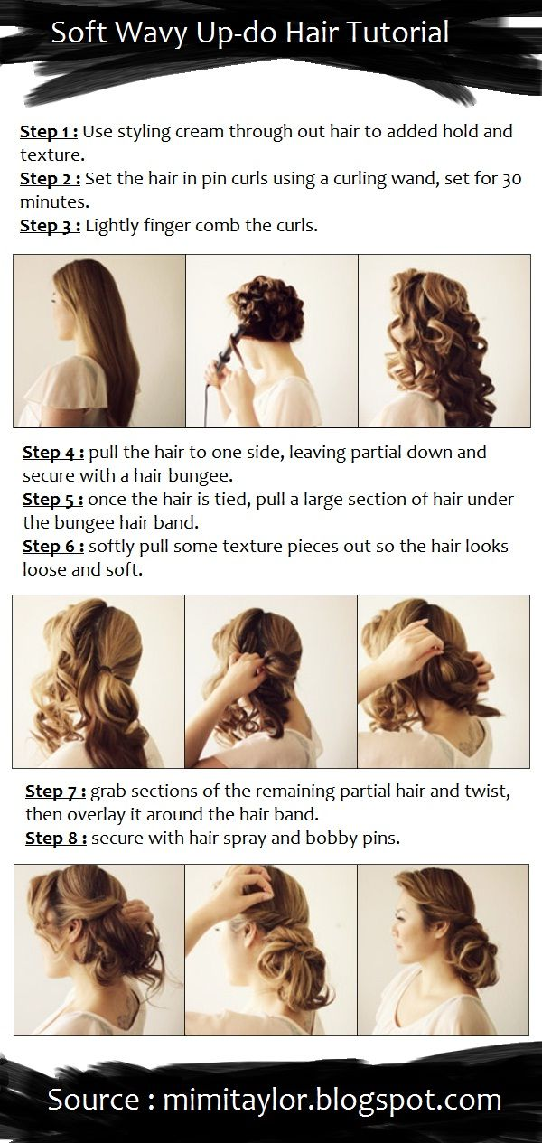 Soft Wavy Up-do Hair Tutorial | PinTutorials