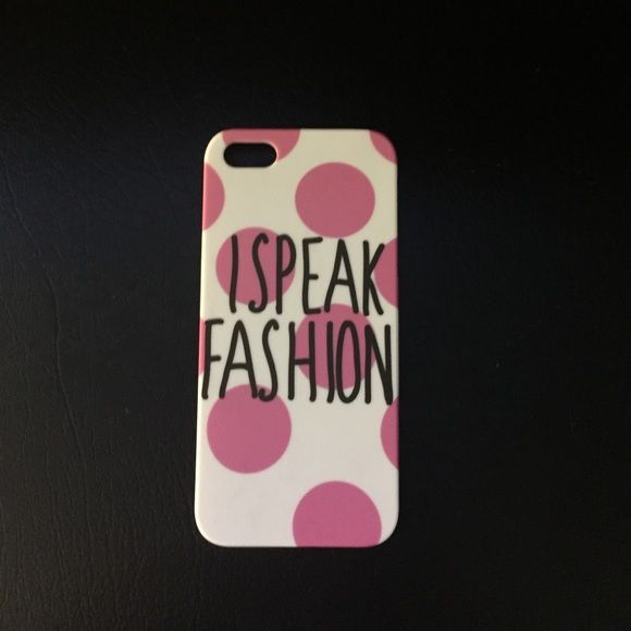 iPhone 5 Case I Speak Fashion Gorgeous never used case! Accidentally bought this instead of the iPhone 6 case! Only one of these stores located in US! Primark Accessories Phone Cases