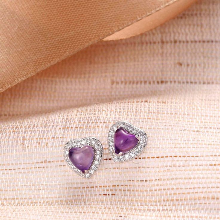 UneJoux Sterling Silver Earrings With Amethyst - UneJoux