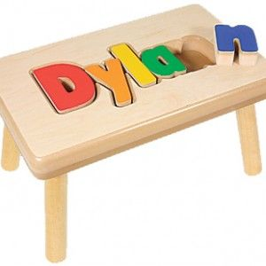 Primary Puzzle Bench Gr8gfts Com Personalized Childrens