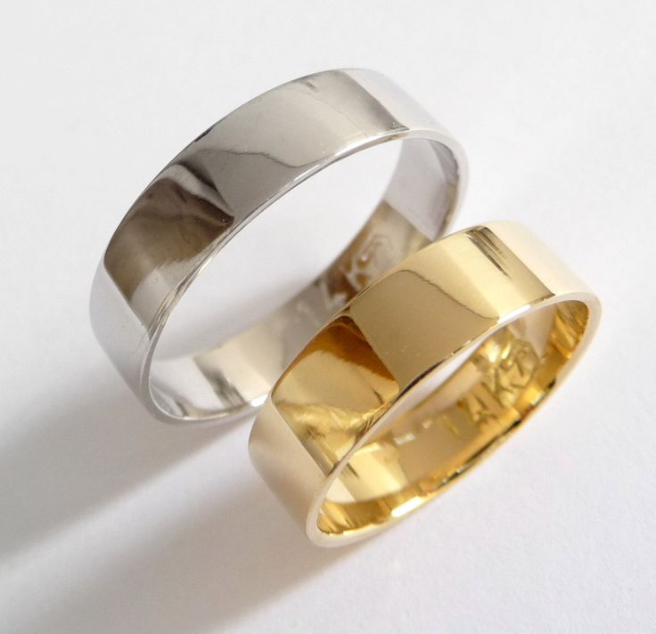 A personal favorite from my Etsy shop https://www.etsy.com/il-en/listing/155803061/wedding-band-set-yellow-white-gold