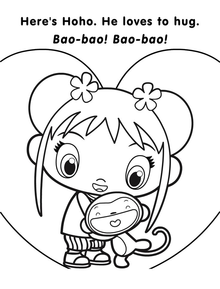 kai lan coloring pages - photo#9