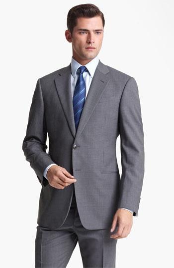 Armani Collezioni 'Giorgio' Trim Fit Suit available at #Nordstrom