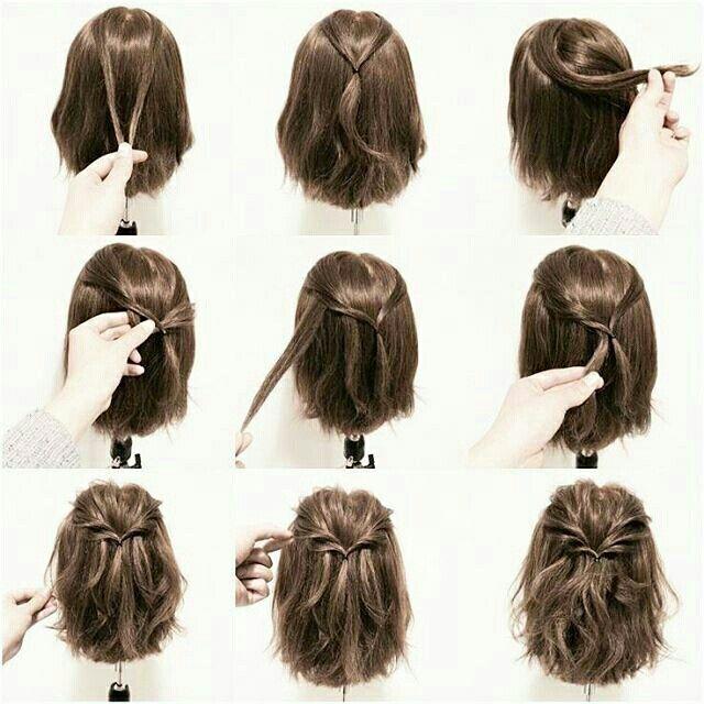 Penteado para cabelos médios @blogregianebotazzoli