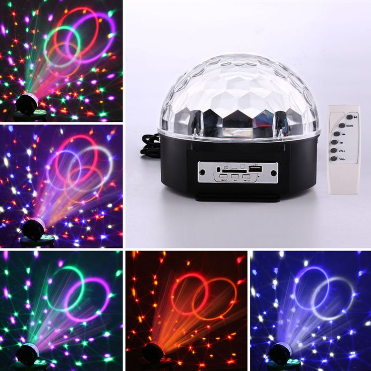Mini rgb led mp3 dj klub pub disco party kristal magic ball cahaya dan Musik Bola Tahap Efek Cahaya dengan USB Disk Remote Control