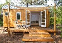 บ้านขนาดเล็ก แบบบ้านเคลื่อนที่ ออกแบบด้วยไม้ ภายในบิวท์อินสวยงาม