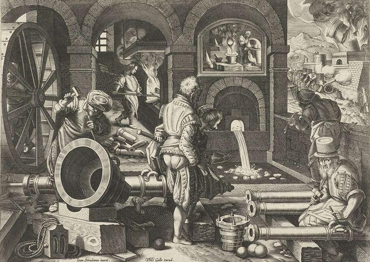 Artilleriewerkplaats, Philips Galle, ca. 1589 - ca. 1593