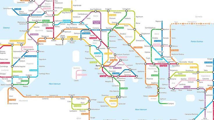Het Romeinse Rijk in een overzichtelijke metrokaart - Creators