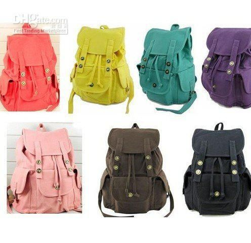 Wholesale Backpack Style - Buy 2012 HOT SALE Women Leisure Backpack Travel Bag Girls Canvas Schoolbag 7 Colors, $56.58 | DHgate