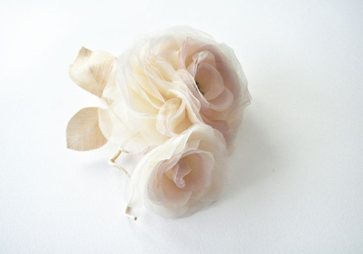 Silk organza rose