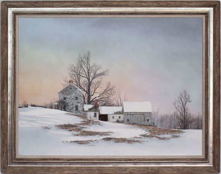 Winter Light  Original Painting by Fred Swan at the Village Frame Shoppe, St. Albans, Vermont