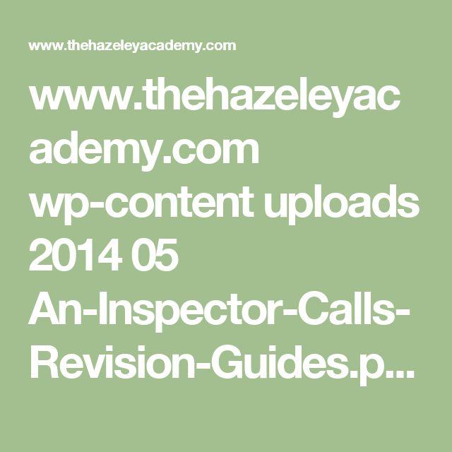 www.thehazeleyacademy.com wp-content uploads 2014 05 An-Inspector-Calls-Revision-Guides.pdf