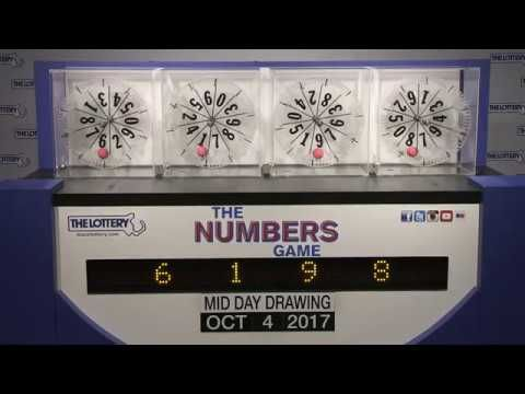 Midday Numbers Game Drawing: Wednesday, October 4, 2017 - http://LIFEWAYSVILLAGE.COM/lottery-lotto/midday-numbers-game-drawing-wednesday-october-4-2017/