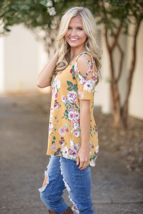 Feels Like We're Meant To Be Floral Blouse