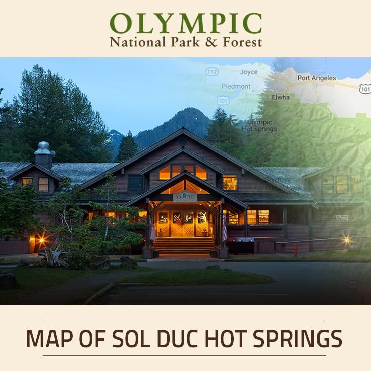 This map shows the location of Sol Duc Hot Springs Resort, one of The Lodges of Olympic National Park & Forest.