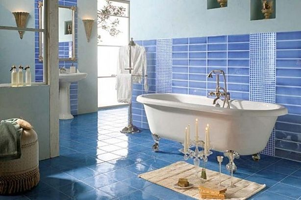 blue and beige bathroom ideas - Google Search