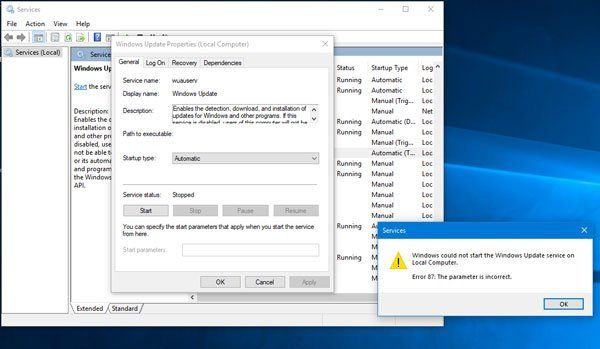 Windows Could Not Start The Windows Update Service On Local