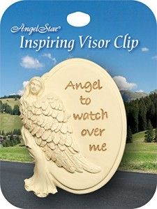 Awesome 21st Birthday Gifts: Angelstar Metal Visor Clip Angel to Watch Over Me