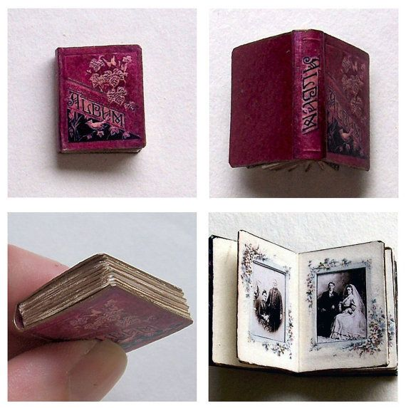 Dolls' House Miniature - Victorian Photograph Album