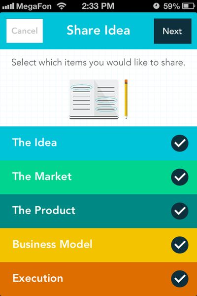 Idea Share & Project Management iOS Mobile App UI Design