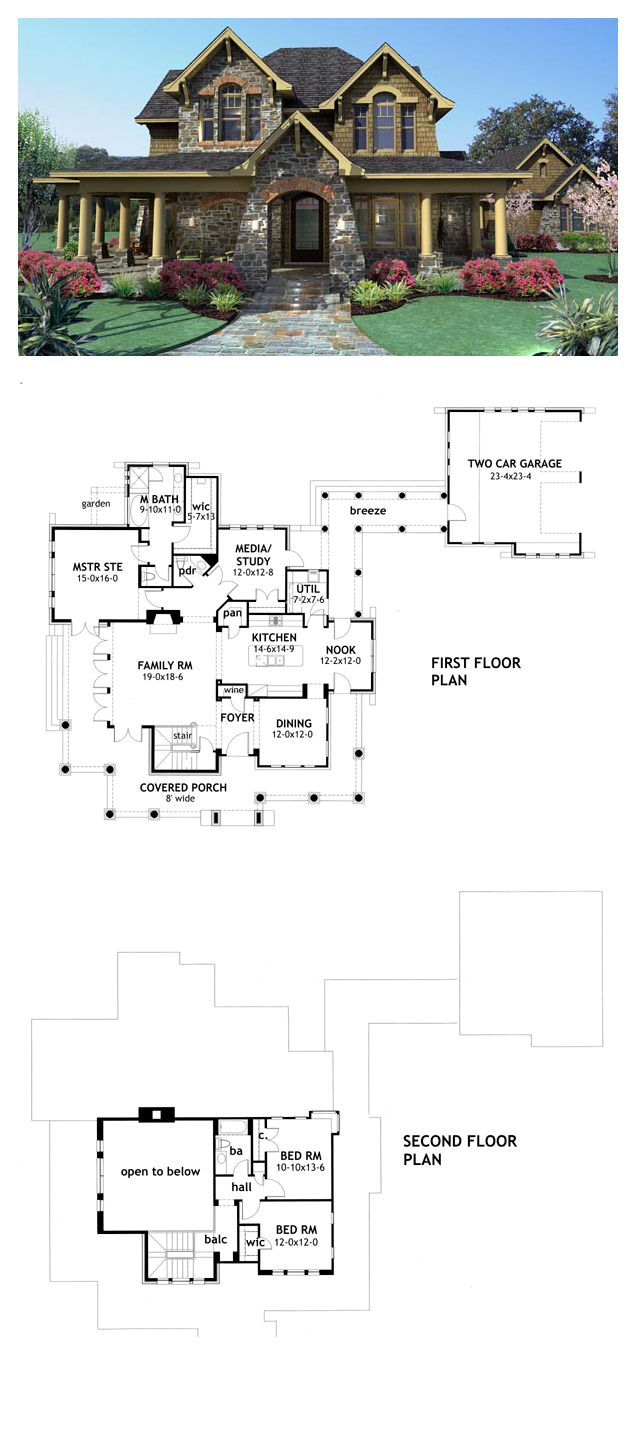 Tuscan House Plan 75106 | Total Living Area: 2552 sq. ft., 3 bedrooms & 2.5 bathrooms.