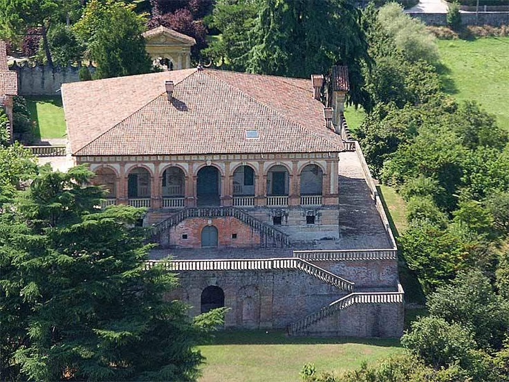 #Villa dei #Vescovi - Luvigliano di Torreggia (PD) #Italy.  Built between 1535 and 1542 on an embankment of the #Euganean #Hills as a holiday home of the Bishop of Padua, the villa was designed by the painter-architect Giovanni Maria Falconetto, under the direction of Alvise Cornaro.