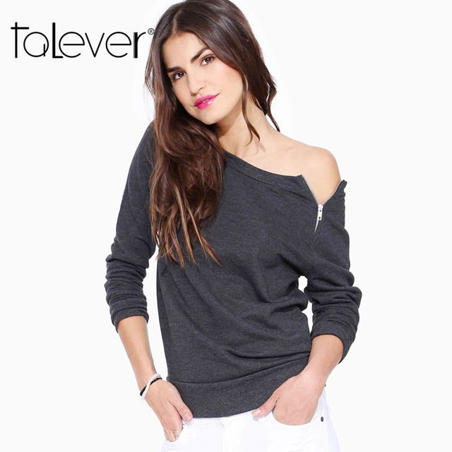 Check current price Ladies Clothing Brands Autumn Womens Clothes Fashion Shirts Women and Clothes Sweatshirt Off Shoulder Top Women 2016 Ropa Mujer just only $10.73 - 12.23 with free shipping worldwide  #womanblousesshirts Plese click on picture to see our special price for you