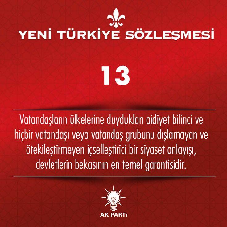 13.Madde, #YeniTürkiyeSözleşmesi
