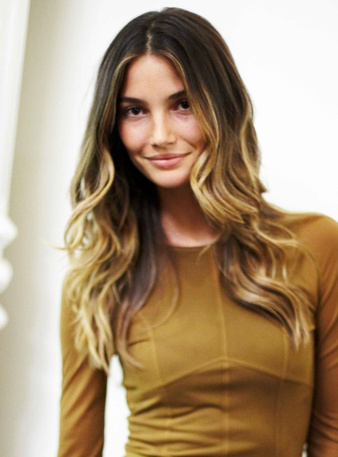 Lily Aldridge's hair color - click through to see more of the best celebrity ombré hairstyles of all time -