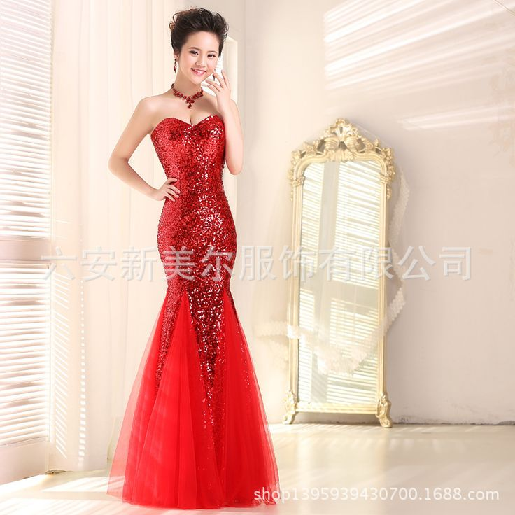 High quality Sequins and Soft Mesh Stitching Floor-Length Party Dresses Various color Available Gown Elegant Bridesmaid Dresses