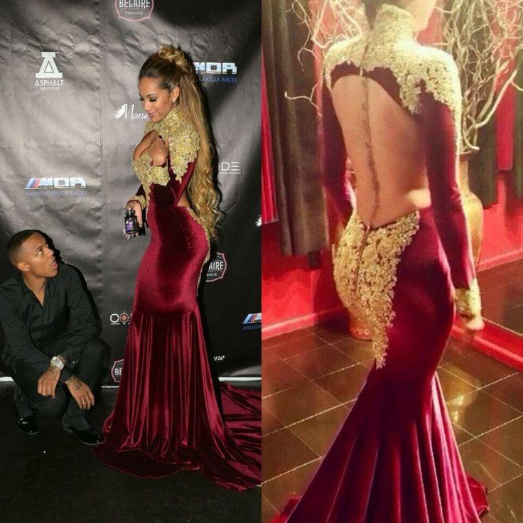 Dubai-Kaftan-Formal-Celebrity-Gowns-2016-New-Mermaid-Long-Sleeve-Elegant-Backless-Burgundy-Party-Evening-Dresses