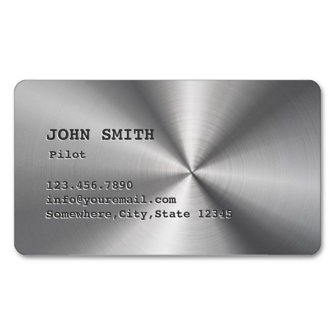 The 1456 best pilot business cards images on pinterest business faux stainless steel pilotaviator business card make your own business card with this reheart Gallery