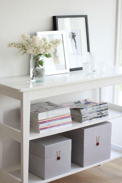 organized-entry-frames-magazines-boxes via ariannabelle.com