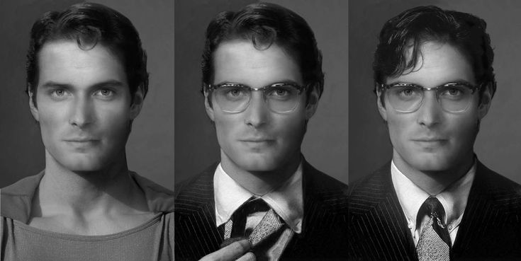 SUPERMAN actor morph. Christopher Reeve, Henry Cavill ...