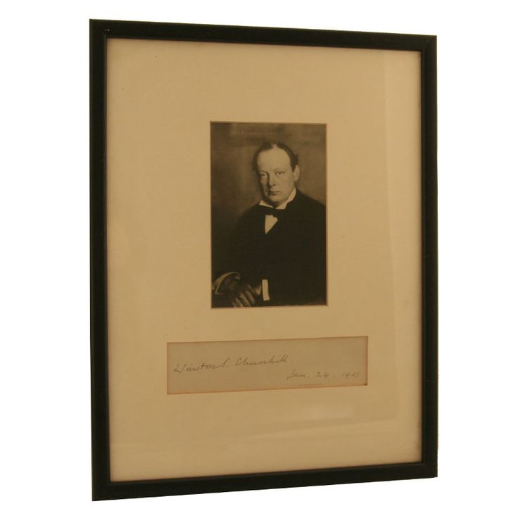 A fine example of Sir Winston Churchill's autograph at PFC Auctions. Bidding closes May 24.