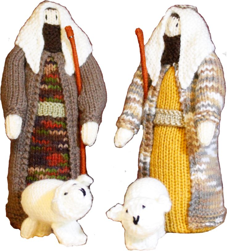 Shepherd and Sheep Nativity Mini Set - 4 pieces