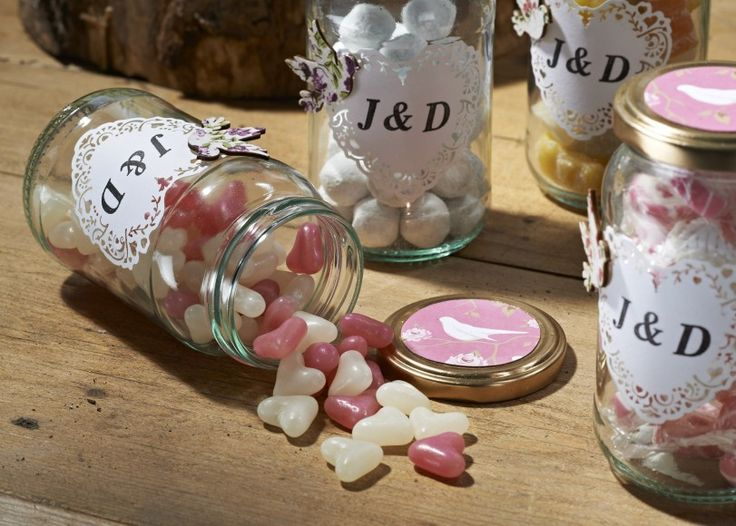 Sweet Wedding Favour Jars