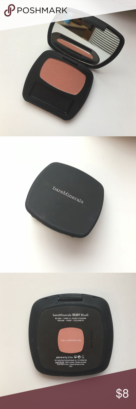 """BareMinerals Blush in """"The Confession"""" Super subtle matte pinky/nude blush I've only used a couple of times. I lost the little brush that comes inside the compact. bareMinerals Makeup Blush"""