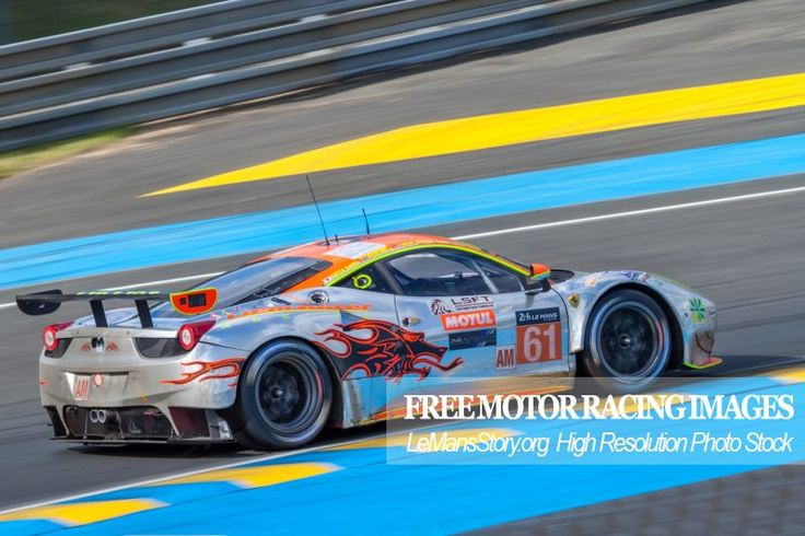 Ferrari 458 Italia Race Car Clearwater Racing team Le Mans 24 Hours 2016 https://lemansstory.org/