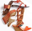 Try the trend: orange sandals.  For tips on how to wear this look, check out this featurette from Nordstroms.