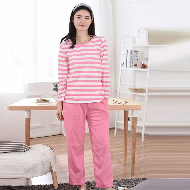 2017 Femme Autumn  pyjamas women pyjama set Cotton pajamas home clothes for women Grils Students with M L XL XXL size #Affiliate