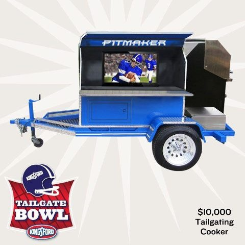 Kingsford Tailgate Bowl every week for a chance to win the Ultimate Tailgating Grill Pack.  You'll also be entered into our Grand Prize drawing for a chance to win a $10,000 Tailgating Cooker   kings ford contest