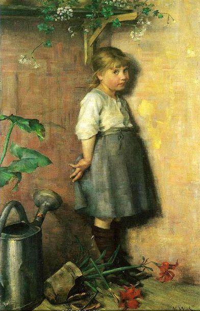 Guilty Conscience-Maria Wiik (1853 – 1928, Finnish)