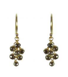 Pyrite Gold Clustered Earrings